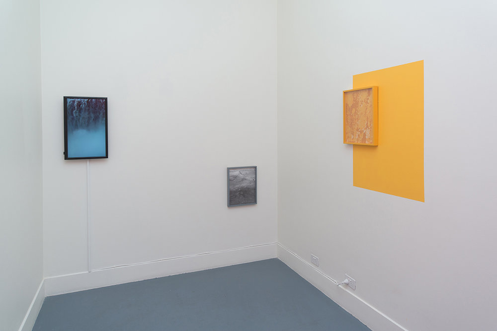 Lucie McIntosh,  Walking Backwards (Towards the Precipice) , 2018, installation view