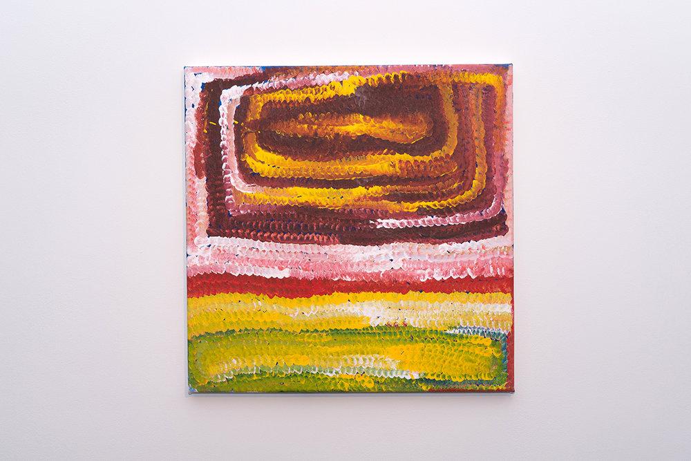 Bugai Whyoulter   Parnngurr   Acrylic on canvas, 61 x 61cm