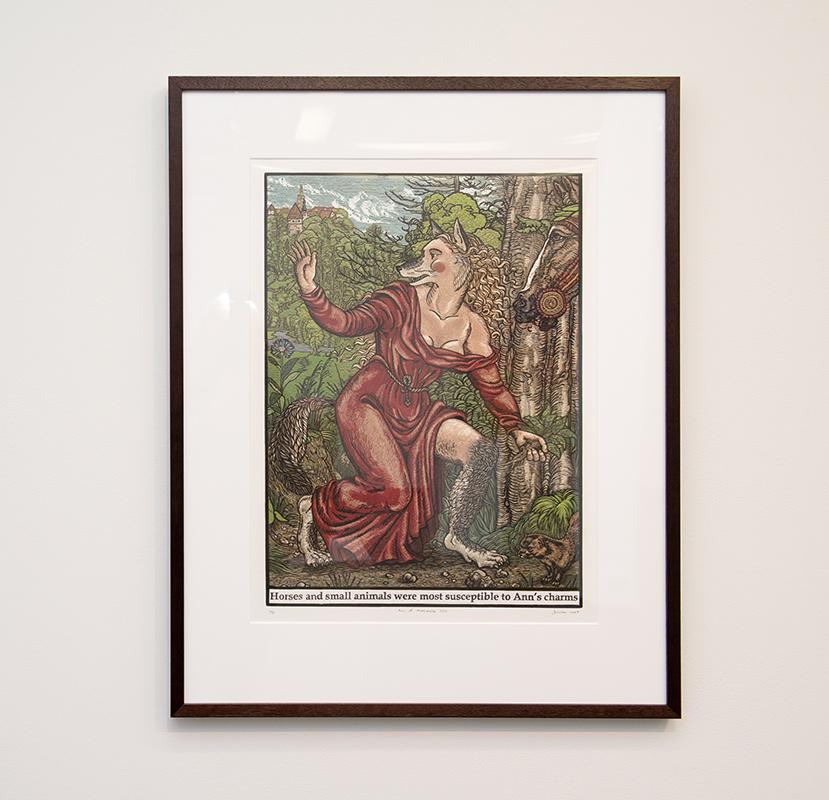 Jazmina Cininas   Ann of Meremoisa, 1623 , 2007  Reduction linocut  76 x 56 cm  Printer: Pia Murphy, for Port Jackson Press