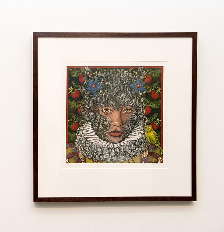 Jazmina Cininas  Maddalena was a True Marvel in her Day, 2011  Reduction linocut  51.5 x 49 cm