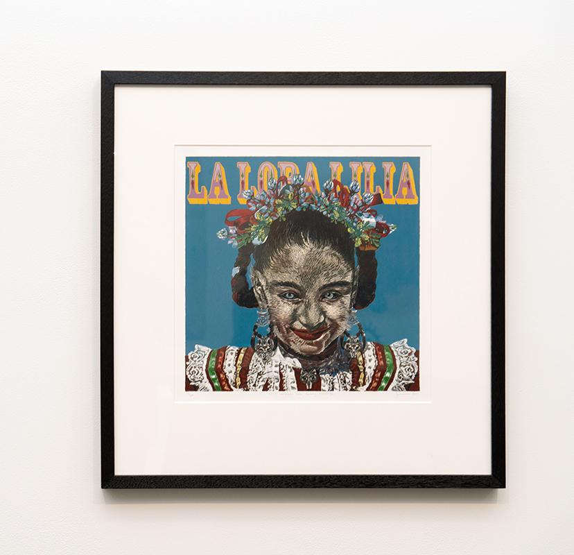 Jazmina Cininas   Lilia embraces her family heritage , 2010  Reduction linocut  42 x 38.4 cm