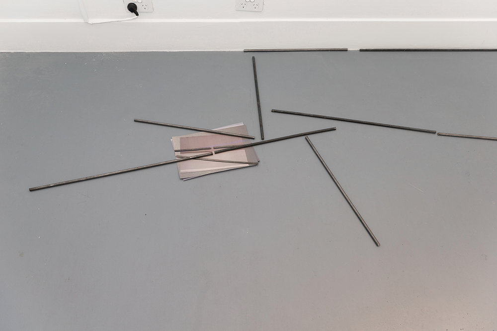 Clara Murphy,  Untitled , 2018, steel rods and paper