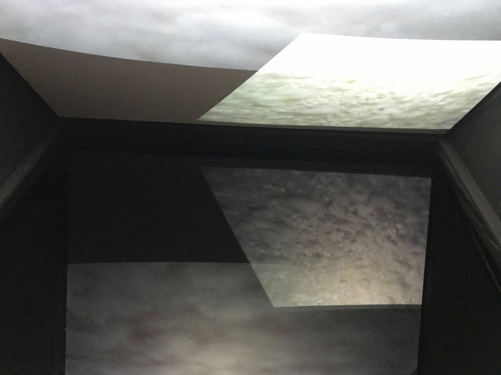 Garry Moore,  Touching Place , 2018, installation incorporating projection and water, 4 x 3 x 2.5 m