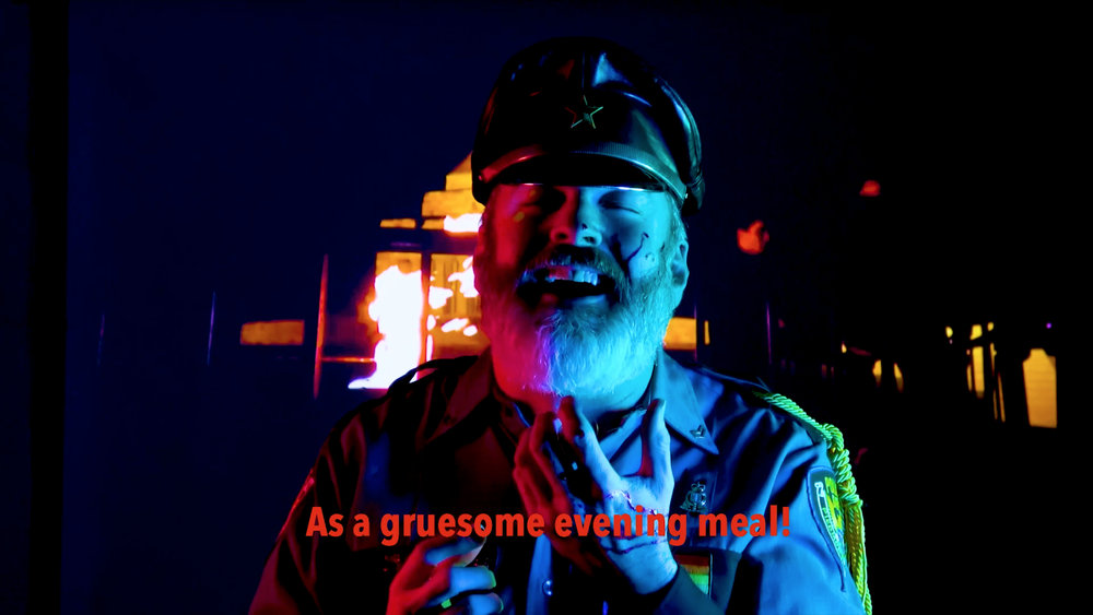 Keith Clancy,  BLACK WHOLE ( video still), 2018, multiscreen video installation, 72'