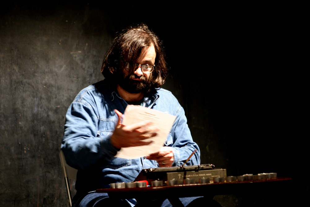 Jozef Cseres:  Hermes' Action Writing  (performance), NIPAF, Tokyo, 2004