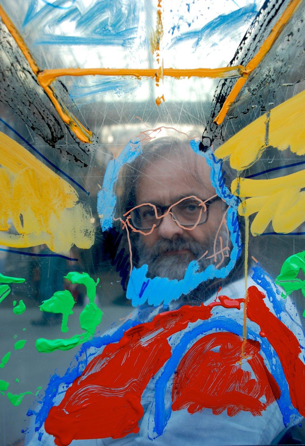 Paolo Buggiani:  Portrait of Jozef Cseres  (performance/installation), Macro Asilo, Rome, 2018