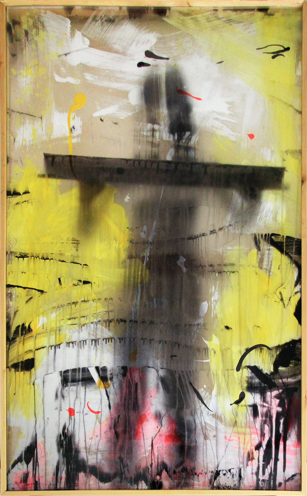 Erika Ernawan,  Figure on Yellow , 2019, Digital print and acrylic on Perspex, 90 x 145 cm