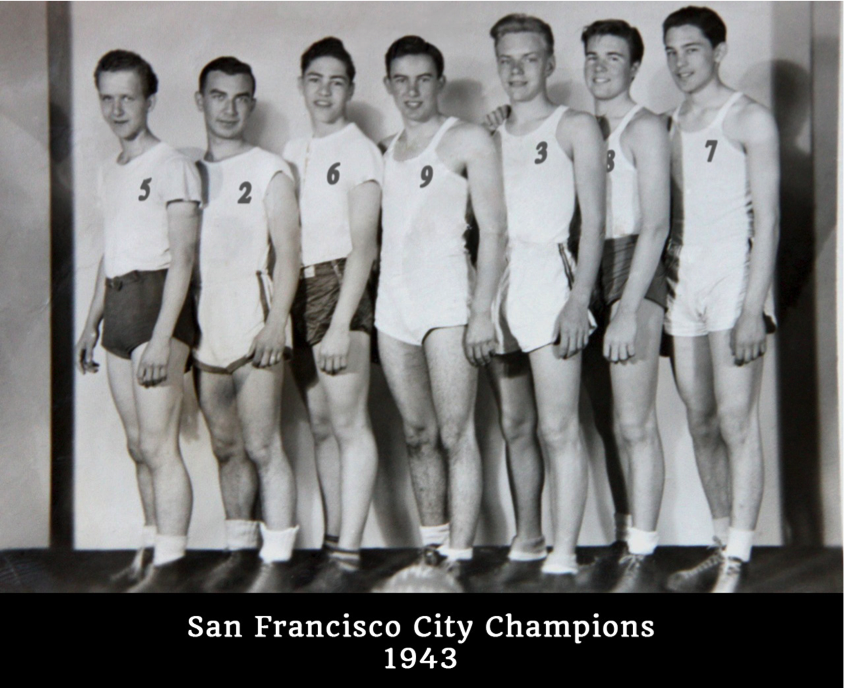 This photo shows 7 of the players, and Art Dugoni happens to be the 7th in the row (from left to right). He is also the tallest.