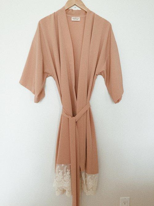 Custom Nude Dressing Gown — Rack+Ruin