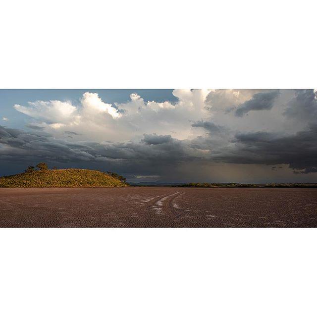Salt Pans (swipe right for details). #storms.  #thekimberley #3x1 #panoramics #reframedmag #artofvisuals #saltpans #tracks #landscapephotography