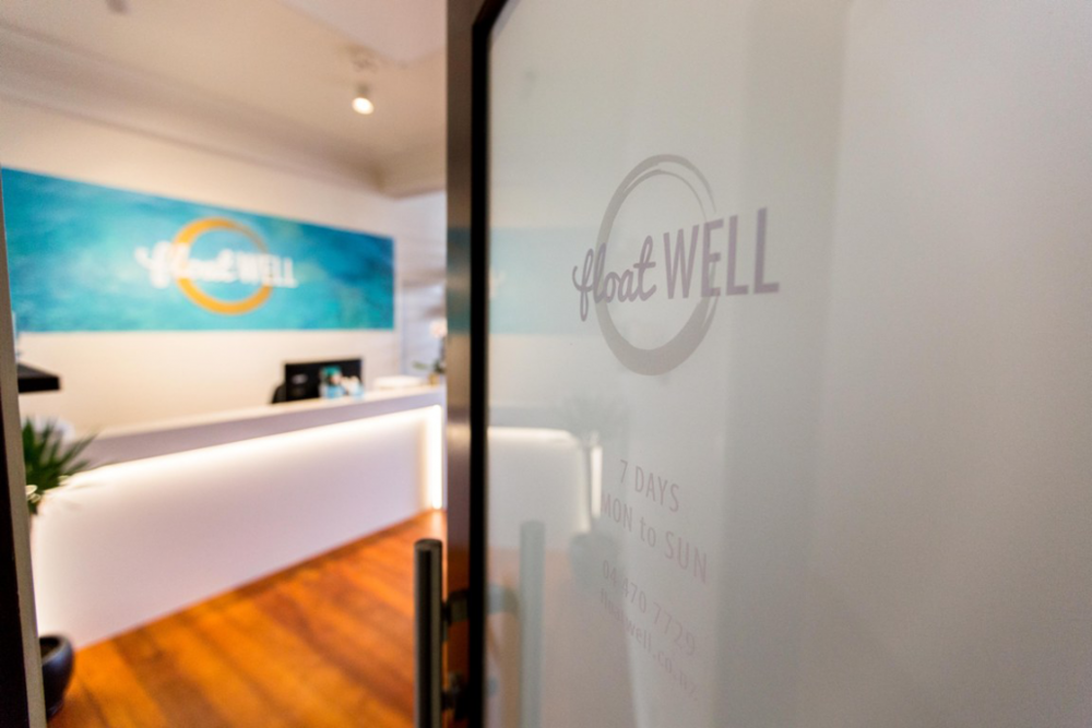 The entrance to Float Well, located on Level 1 of the James Smith Building.