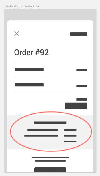 Order status details