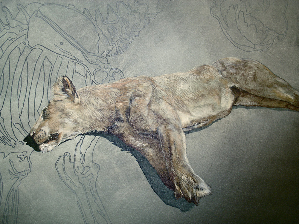 dead lion painting in progress detail.jpg