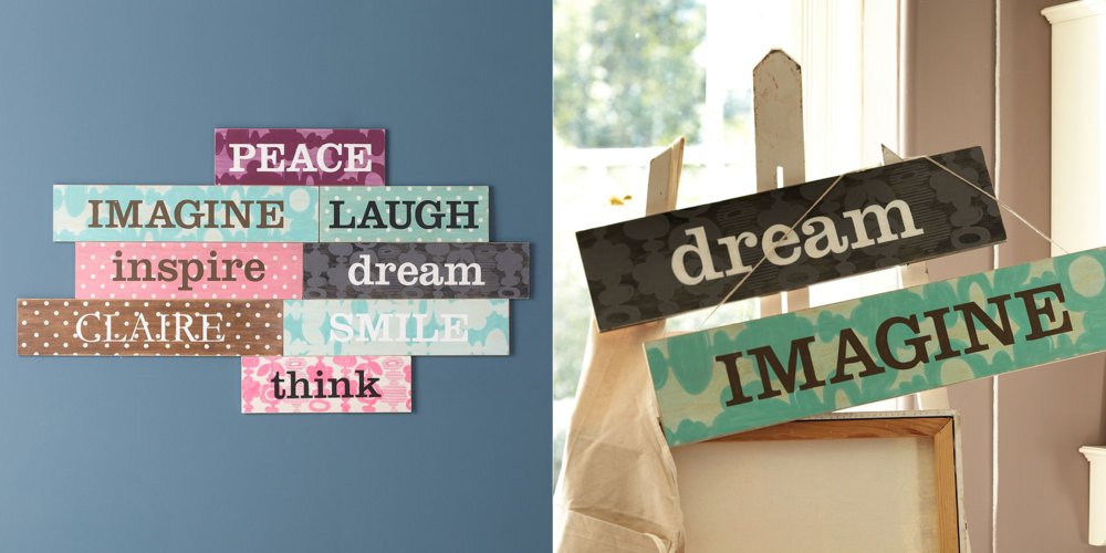 PB Teen Inspirational Word Plaques