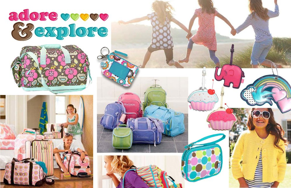 Target Girls Luggage Mood Board