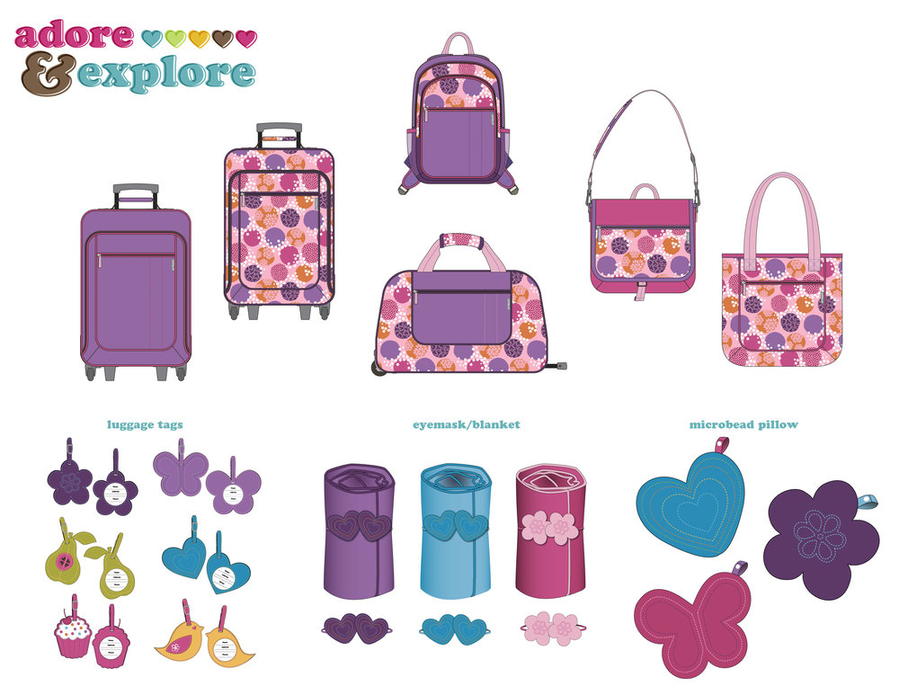 Target Girls Luggage Designs