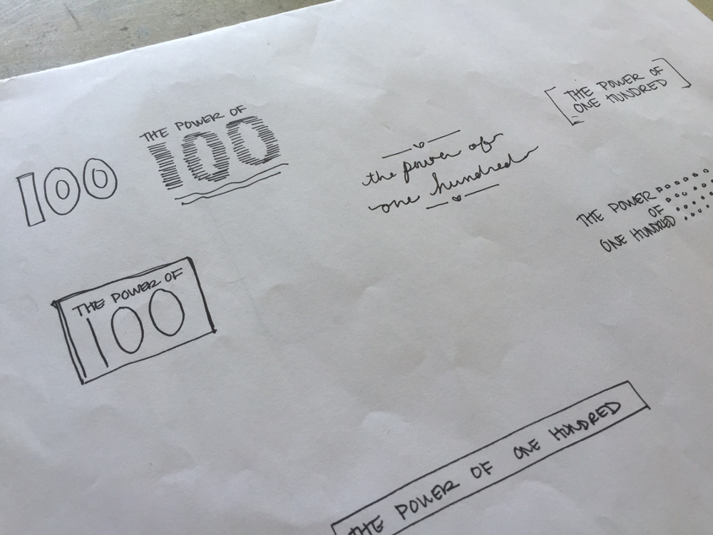 The Power of 100 Logo Sketches