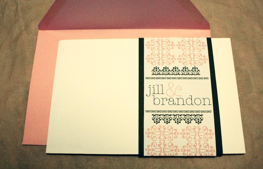 Jill & Brandon Wedding Invitations