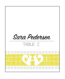 Sara & Brent Place Cards