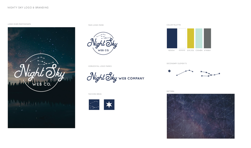 Night Sky Web Co. Branding Kit
