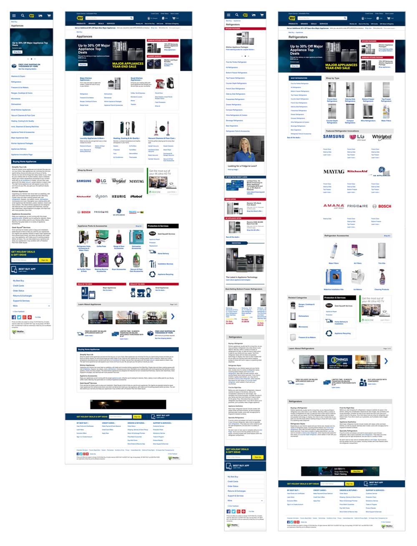 Best Buy Department & Category UI Design