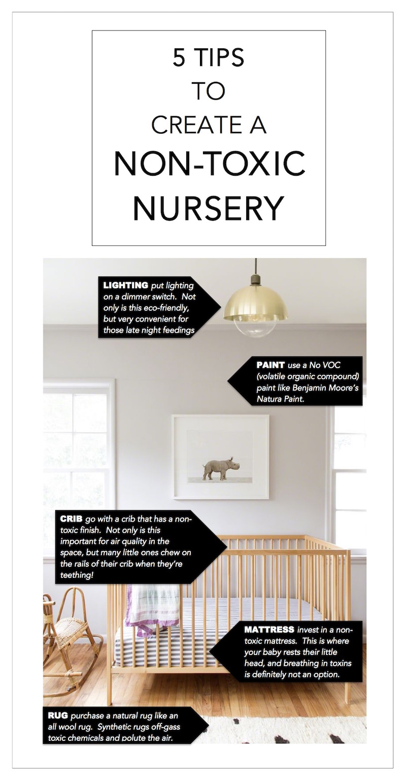 5 TIPS - NON TOXIC NURSERY PINTEREST