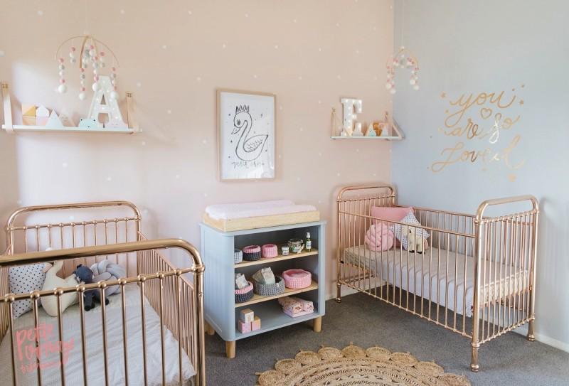 Peach and Grey Nursery 2