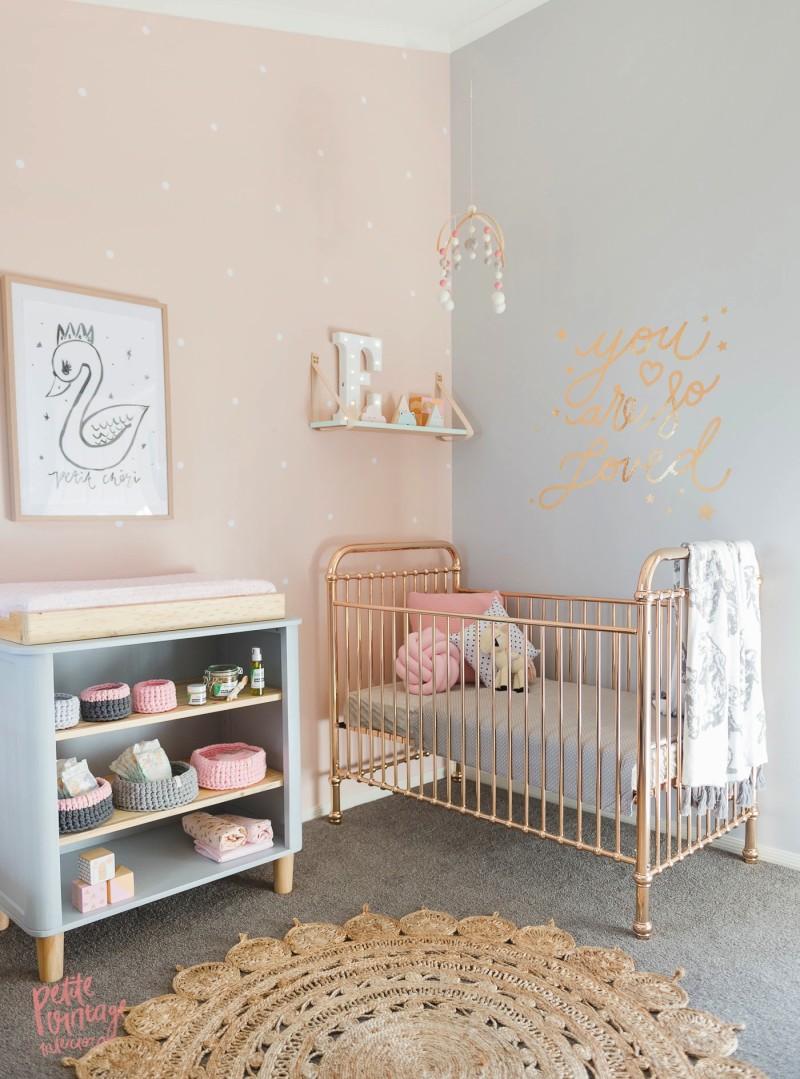Peach and Grey Nursery 3