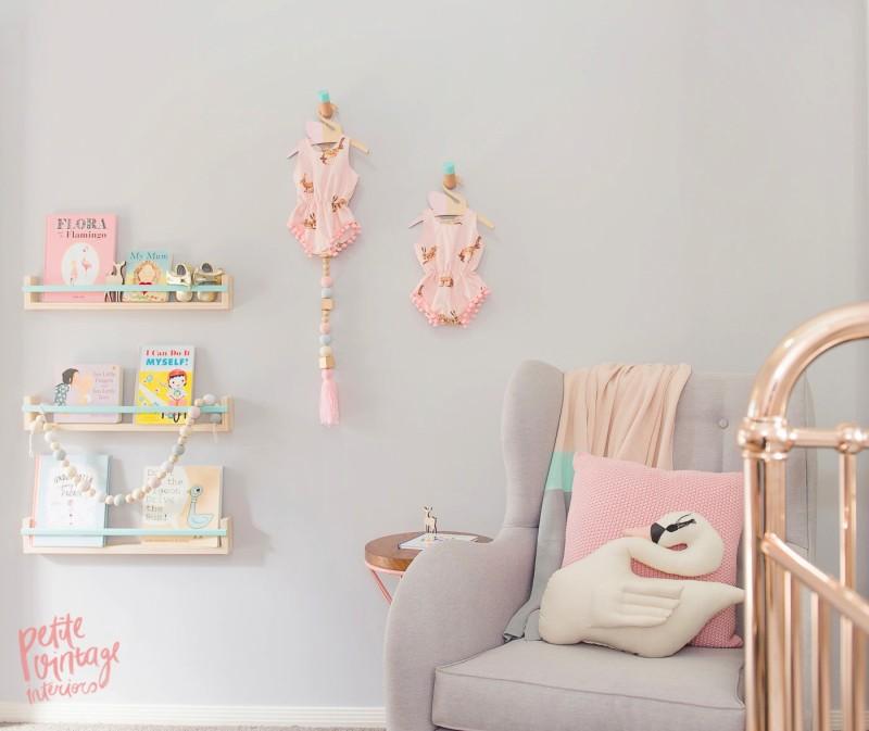 Peach and Grey Nursery 5