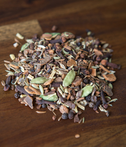 Dandelion ChaiA delicious caffeine free chai that will enhance the immune system, fight inflammation and act as an antioxidant.  All Organic Ingredients: Roasted Dandelion and Chicory Root, Cassia Cinnamon, Cardamom pods, Liquorice Root, Cloves, Aniseed, Fennel, Caraway, Nutmeg and Peppercorns. -