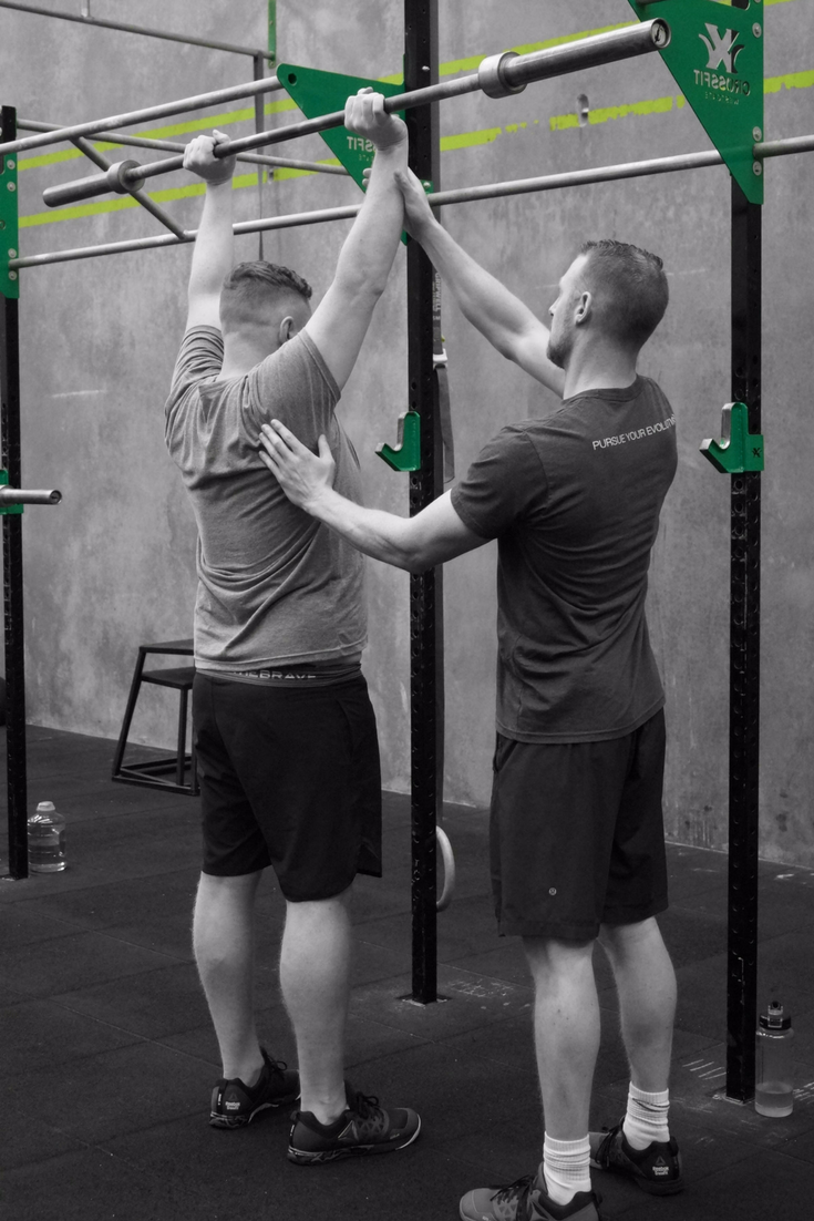 Pictured: Damien Hennigan (Head Coach & Owner) and Michael Nemeth (CrossFit Westgate member)