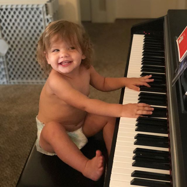 Getting them started young over here 🎹🎼. Maybe Evelyn and Elevan should get together and collab. #cityofenoch #cityofenochmusic #cityofbabies #sweetredeemer #ldsmusic #christianmusic #newalbum