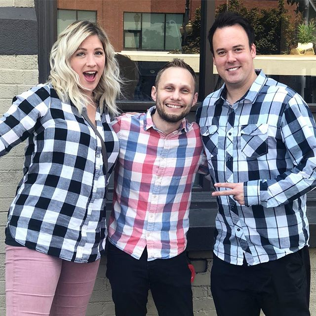 Working on the new album and we're thinking plaid for the album cover. Going for a more cohesive look 😆 #unplanned #orwasit? #cityofenoch #cityofenochmusic #christianmusic #ldsmusic #deseretbook #tofw #tofw2018 #newalbum #blessed