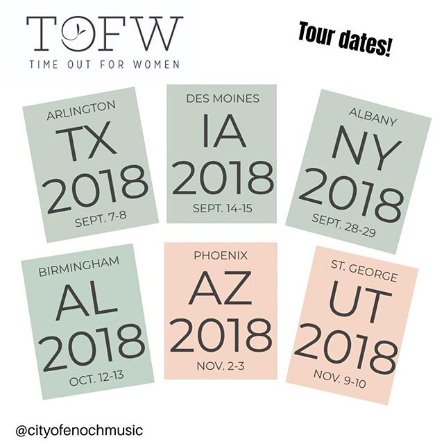 Our fall @tofw_timeoutforwomen tour dates are fast approaching! Just over a month before we're hanging in #Arlington! Comment below if we're going to see you at one of the events!