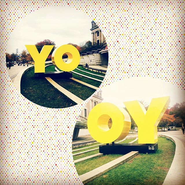 I like the wording here at the Brooklyn Museum—appropriate from both directions for the young-ish and the yentas of Bk~ #oy #yo #hiphop #yiddish #brooklyn #bklyn #nyc #art #publicart #BrooklynMuseum #bothangles #bothsides