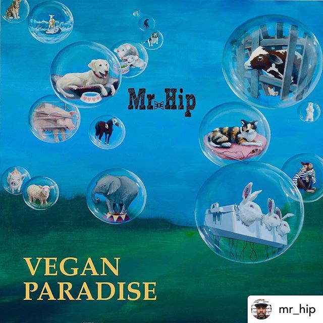 Posted @withrepost • @mr_hip On November 20th, I will be releasing Vegan Paradise, a hip-hop, #plantbased, #crueltyfree album that focuses on the benefits of a meat-free lifestyle. I am thankful for all of the features, support, and love from france to NY to LA. this is for all the #vegansofig. live long and prosperous. The future is vegan. Much love! • • • • artwork by: @animallounge. . . features by: @veganzndahood / @thebeardedvegans / @risabranch / @hiphopisgreen. . . recorded by: @montmartrerecording. . . produced by: @roswell.richie