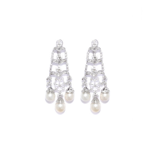 Natural pearl diamond chandelier earring designer jewellery for women natural pearl diamond chandelier earring aloadofball Image collections