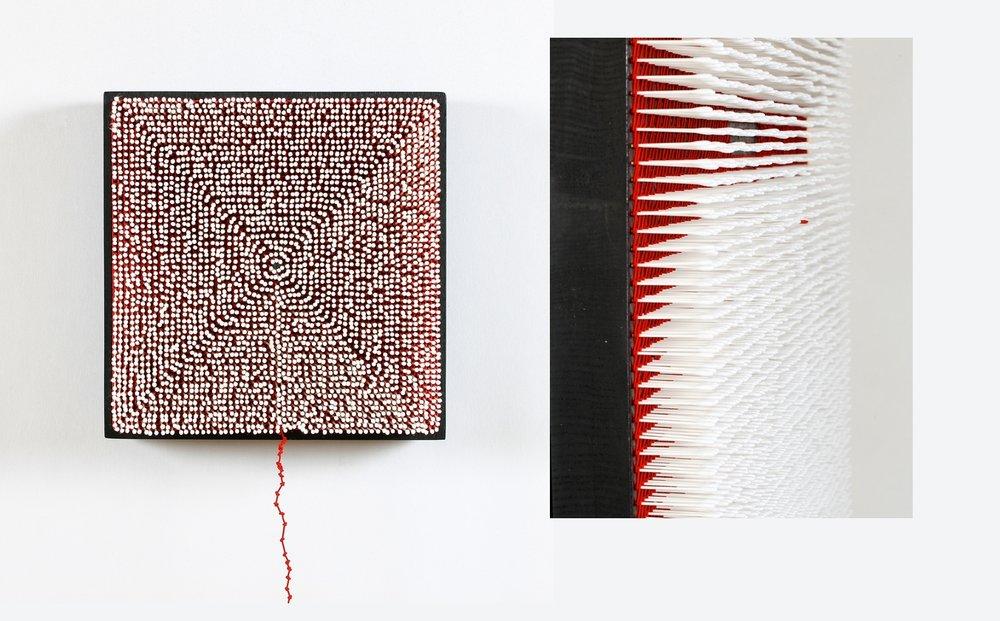 Pensées claires  Coton tiges 82 x 82 cm
