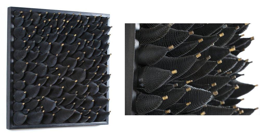 Taupe  — 80 x 80 cm — Chambre à air.