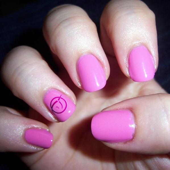 Invisible Pink Unicorn nail art IPU