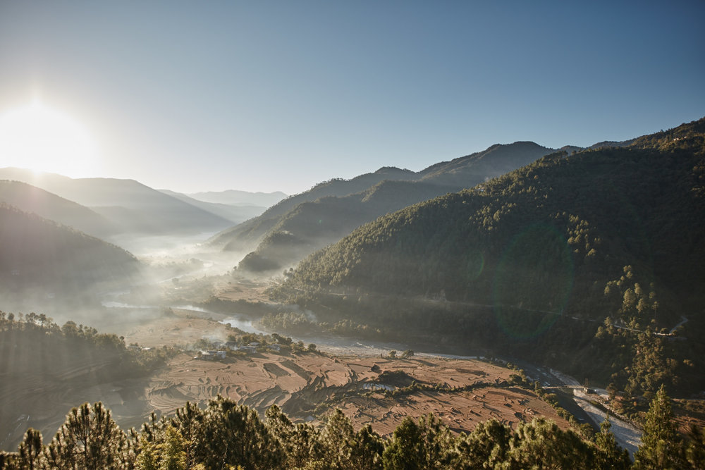 Sunrise in Punakha Valley