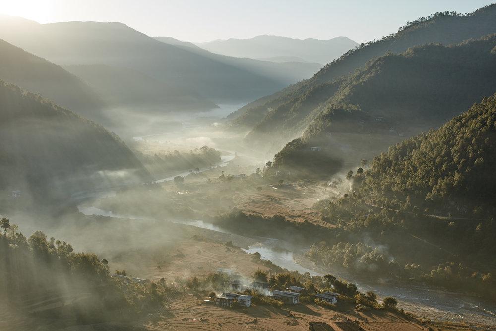 Sunrise in Punakha Valley