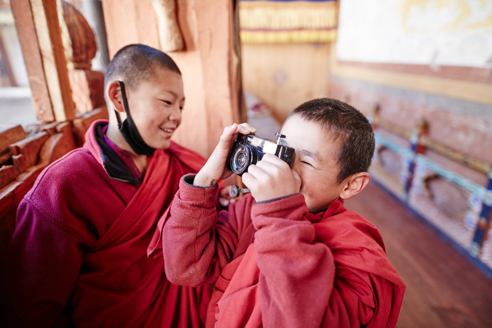 Sharing the joy of photography with novice monks