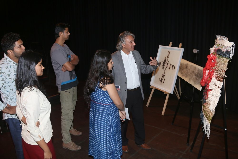 The Awardees share a moment with Anupam Sah.