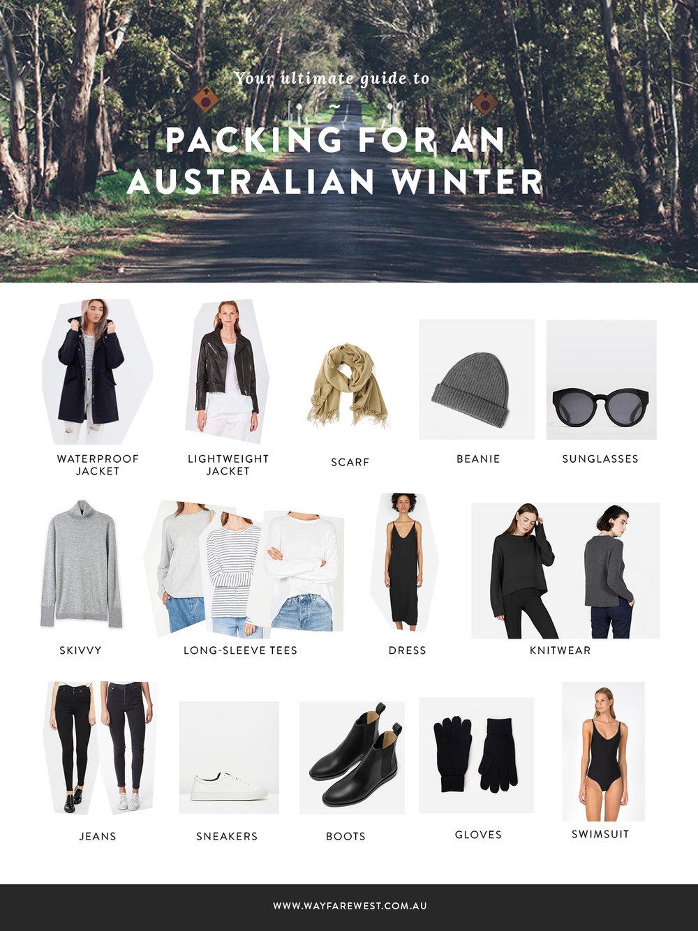Packing for an Australian summer