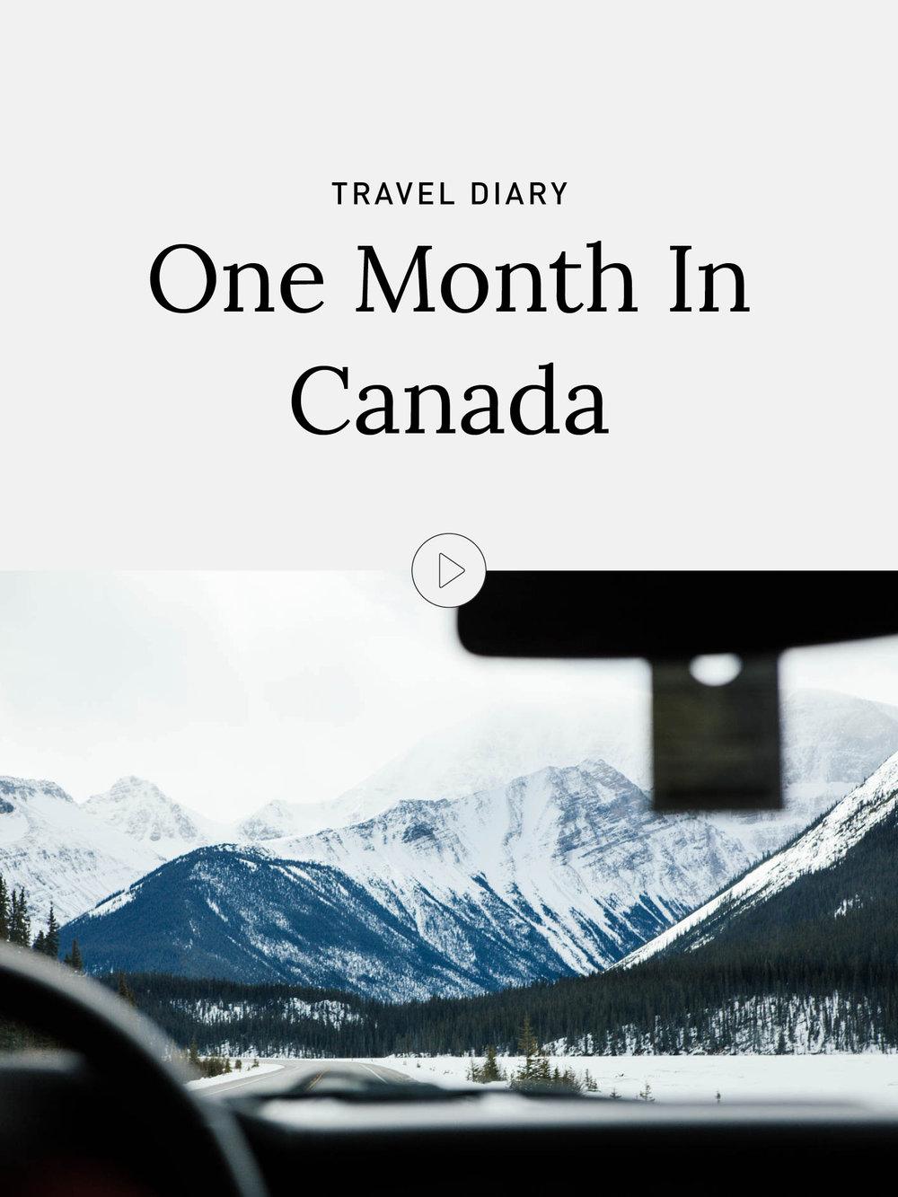 Video Diary: A Winter Roadtrip Around The Canadian Rockies | Canada, Travel, Mountains
