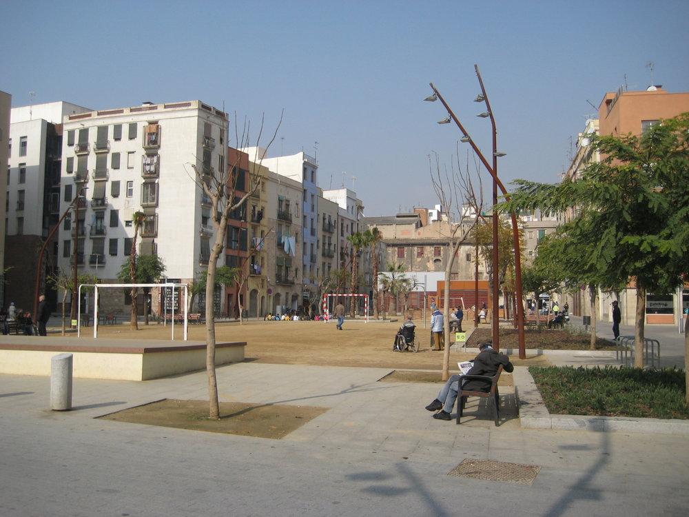 Beispiel Barcelona: Spielplatz als Reproduktion informeller Orte