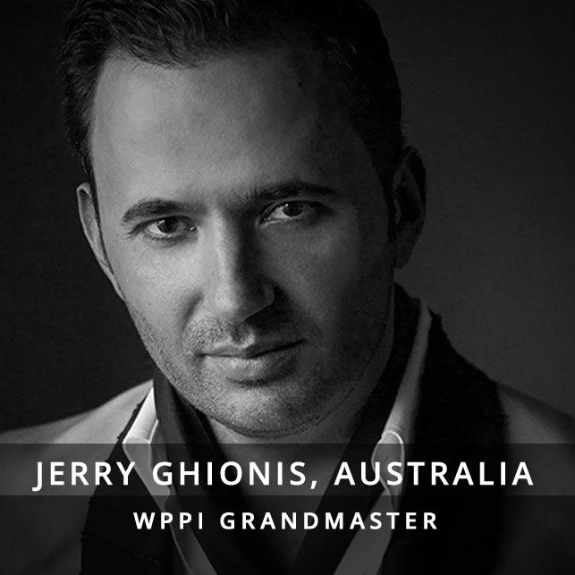 Jerry Ghionis is widely celebrated as being among the best wedding photographers in the world. He has emerged as one of the most influential wedding photographers of the 21st century. Inheriting the strong european sense of style and panache that's synonymous with the Greek culture, combined with the relaxed Australian sensibility, Jerry and his wife, Melissa, are based in Melbourne, Australia and Beverly Hills, USA. Grand Master of WPPI (Wedding & Portrait Photographers International) and the most awarded photographer of that organization, Jerry has won the WPPI International Wedding Album of the Year for an unprecedented eight times and they included Jerry in their top five wedding photographers in the world. In 2011, Jerry was named by PDN magazine as one of the top photography workshop instructors in the world. And in 2014, Jerry received a United Nations IPC (International Photography Community) Photography Leadership Award.