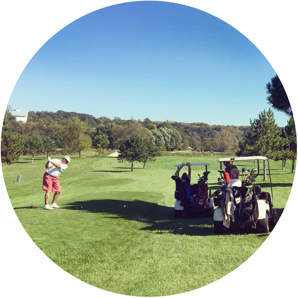 Rivers Bend Golf Course  Voted Bluff Country's Best 18-Hole Golf Course! Our on-site 18-hole, par 70 golf course, is set in an unrivaled setting of natural beauty. You can play golf in the heart of Bluff Country.