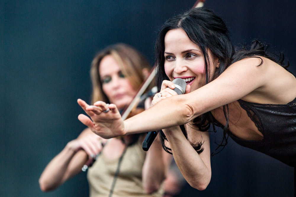The Corrs perform at the Isle of Wight Festival 2016. Newport, Isle of Wight, England - June 11 2016.